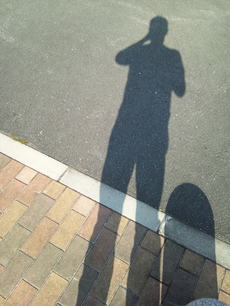 "My shadow, at a pit-stop on the way to the film shoot for ""Silent Hill: Stolen Heart"" at about 7am."