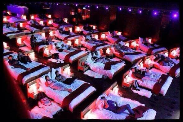 Beds in the cinema